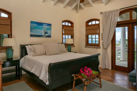 Elegant bedrooms with West Indian furnishings