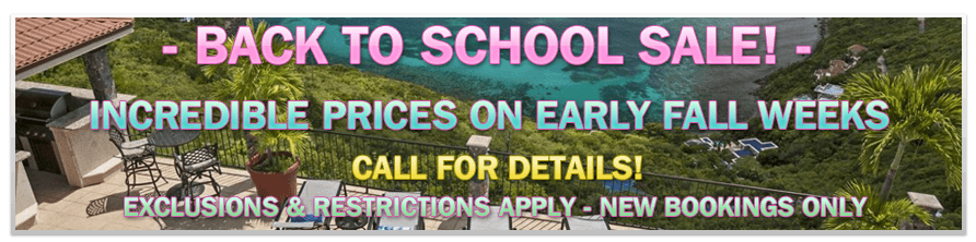 Back to School St John Villa Sale